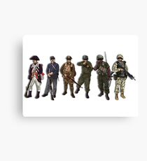 US Military Canvas Print