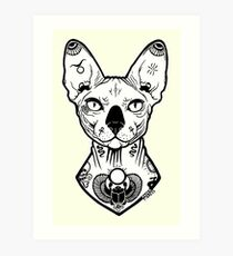 sphynx tattooed Art Print