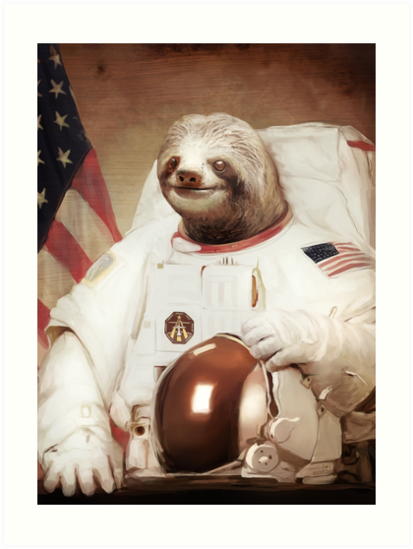 «Sloth Astronaut» de pinestopalms