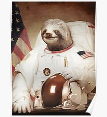 Sloth Astronaut Poster