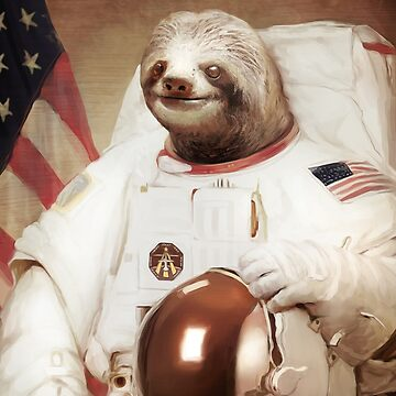 Sloth Astronaut by pinestopalms