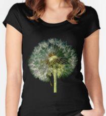 Make A Wish, Dandelion flower Art Women's Fitted Scoop T-Shirt
