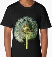 Make A Wish, Dandelion flower Art Long T-Shirt