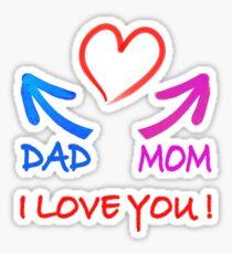 dad mom i love you sticker