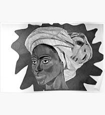 African Woman Oil Pastel digital copy Poster