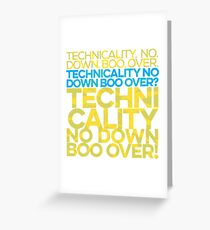 No down boo over Greeting Card