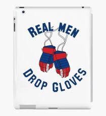 Eishockey, Real Men Drop Handschuhe - Rot & Blau iPad-Hülle & Klebefolie