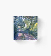 Hockney's Tunnel of Trees Acrylic Block