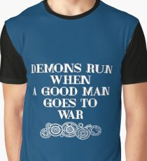 Demons Run - blue Graphic T-Shirt