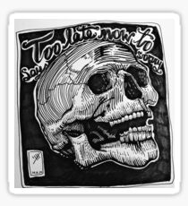 Black skull Justin Bieber is it too late now to say sorry Sticker