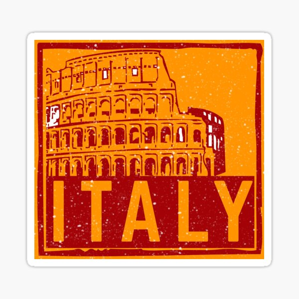 Stamp Italy Sticker