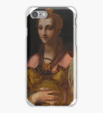 Workshop of Francesco Morandini, called Il Poppi PORTRAIT OF A RICHLY DRESSED LADY iPhone Case/Skin
