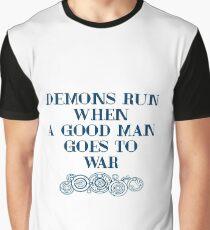 Demons Run - white Graphic T-Shirt