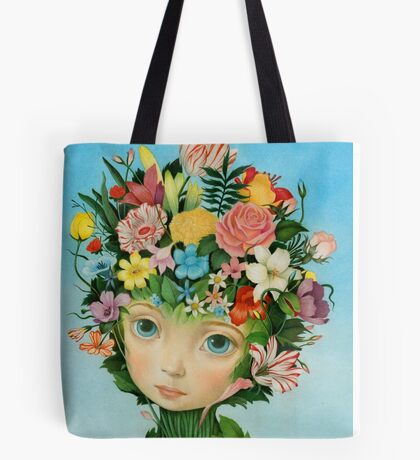 The Languaje of Flowers by Raul Guerra Tote Bag