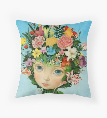The Languaje of Flowers by Raul Guerra Throw Pillow