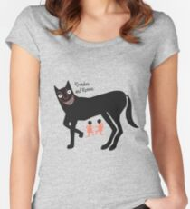 Romulus and Remus With Shewolf Women's Fitted Scoop T-Shirt