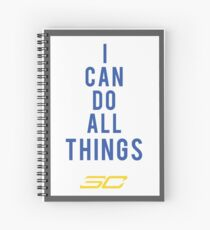 i can do all things Spiral Notebook