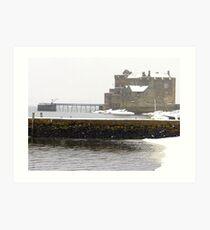 Blackness Castle in the snow Art Print