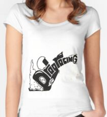 DRAGRACING Women's Fitted Scoop T-Shirt