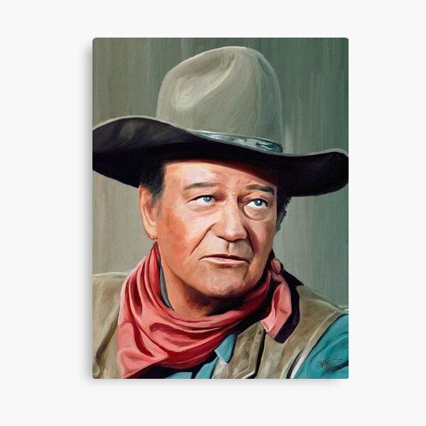 Celebrity Portrait John Wayne Canvas Print