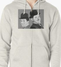 Laurel and Hardy Zipped Hoodie