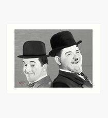 Laurel and Hardy Art Print