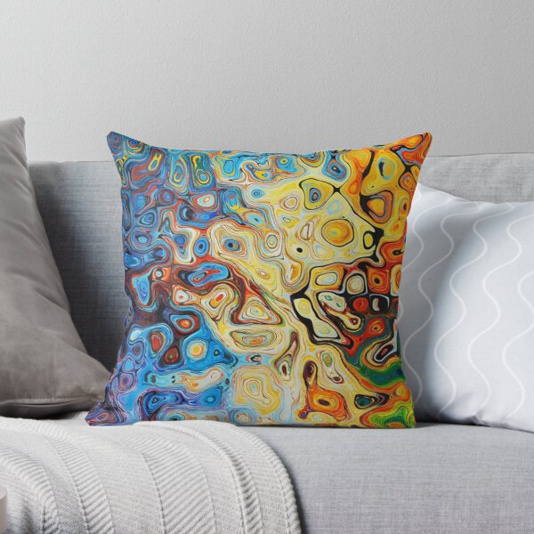 Z - Generative Art Throw Pillow