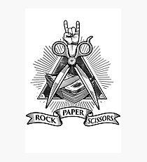 Rock Paper Scissors Photographic Print