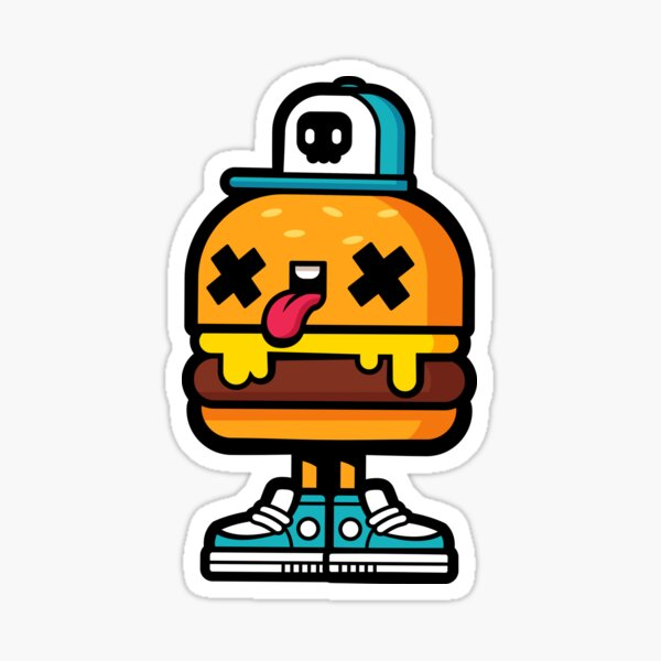 Cheesy Burger Sticker
