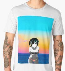 Waifu Material - Anime Girl Shirt (Hanekawa Tsubasa) [Monogatari] Men's Premium T-Shirt