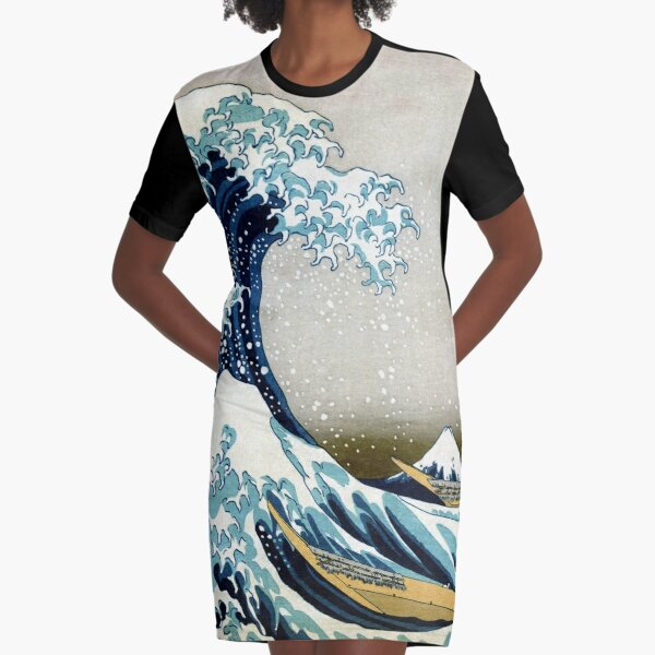 The great wave, famous Japanese artwork Graphic T-Shirt Dress