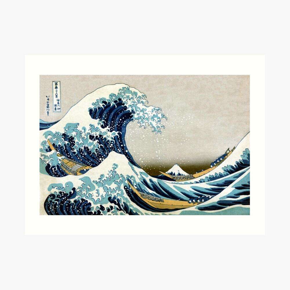 Die große Welle, berühmte japanische Grafik Kunstdruck
