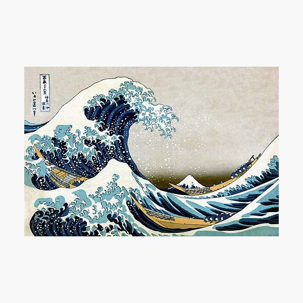 The great wave, famous Japanese artwork Photographic Print