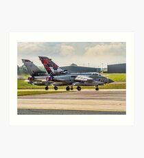 Two 617 Sqn Tornado GR.4s on take-off Art Print