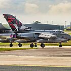 Two 617 Sqn Tornado GR.4s on take-off by Colin Smedley