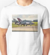 Two 617 Sqn Tornado GR.4s on take-off T-Shirt