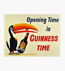 Guinness Vintage Beer Ad Photographic Print