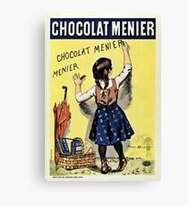 Famous french chocolate ad, Chocolat Menier Canvas Print