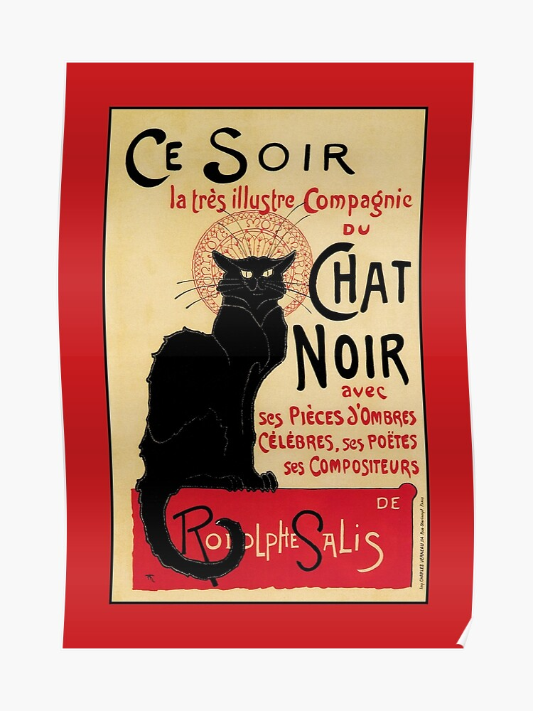 Black Cat Poster Art Nouveau
