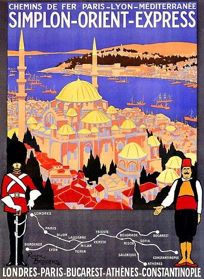 Weinlese Simplon Orient Express London Konstantinopel von aapshop
