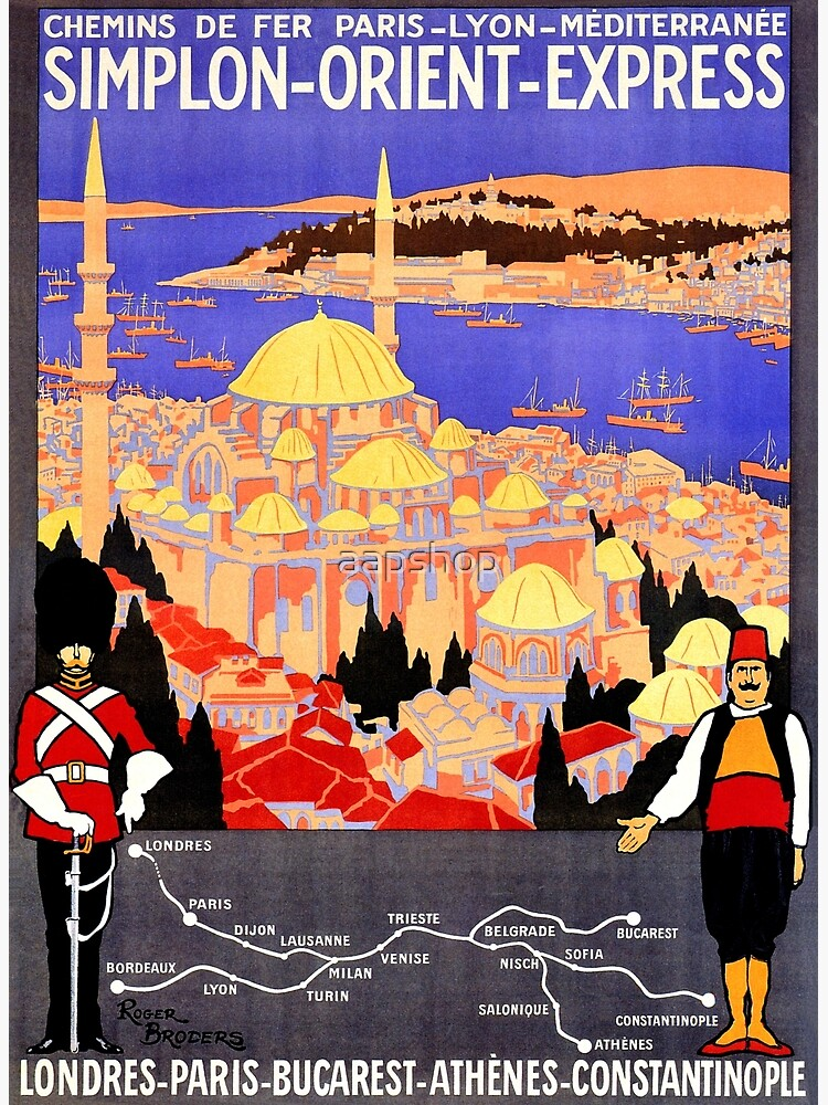 Vintage Simplon Orient Express London Constantinople by aapshop