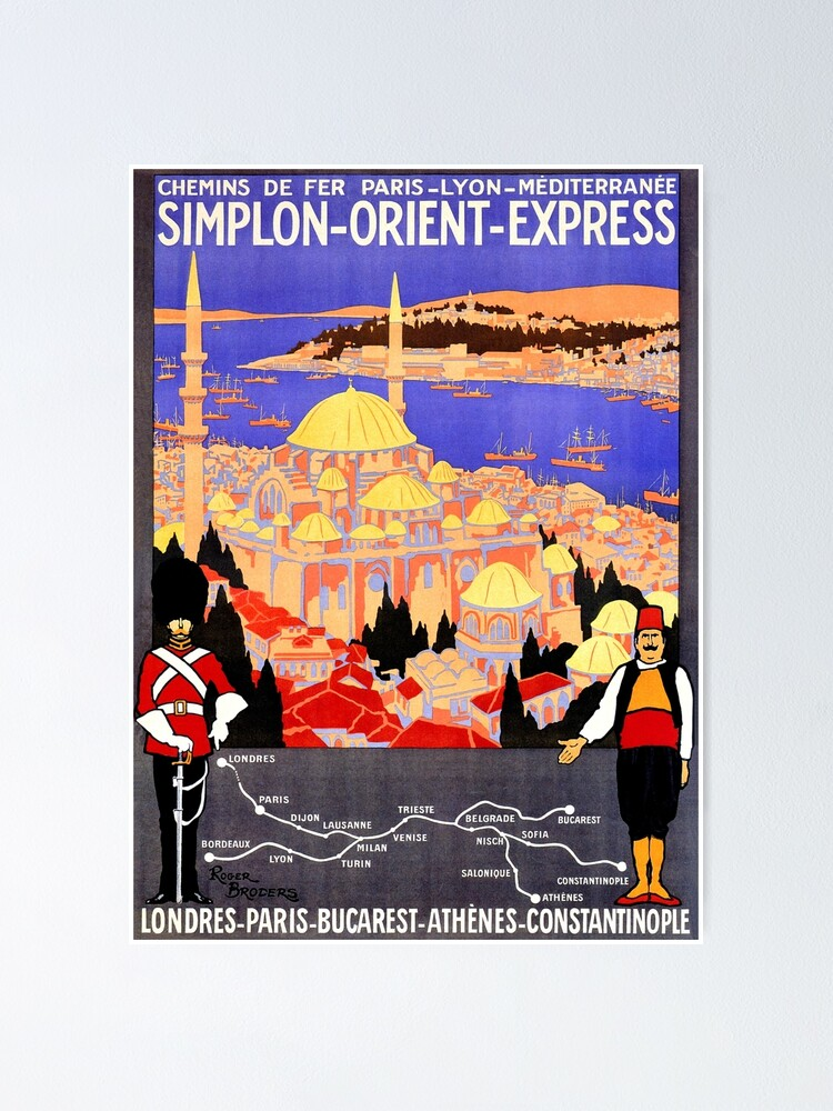 Alternate view of Vintage Simplon Orient Express London Constantinople Poster
