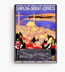 Vintage Simplon Orient Express London Constantinople Canvas Print