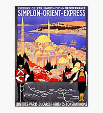 Vintage Simplon Orient Express London Constantinople Photographic Print