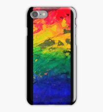 Chipped Paint Rainbow iPhone Case/Skin