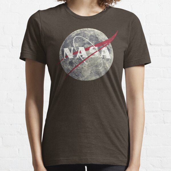 NASA Moon Vintage Emblem Essential T-Shirt