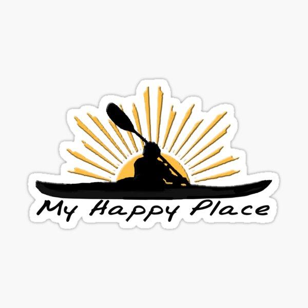 I love Kayaking - My Happy Place - Kayak Sun Sticker