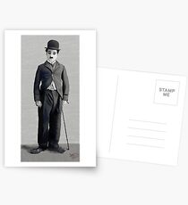 Charlie Chaplin 2 Postkarten