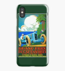 Classic cars motor racing Grand Prix French Riviera 1929  iPhone Case/Skin