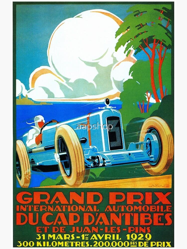 Coches clásicos motor racing Grand Prix Riviera Francesa 1929 de aapshop